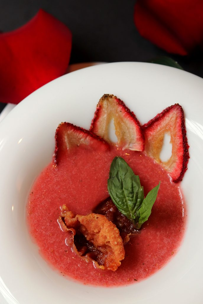 Shiso Strawberry Gazpacho